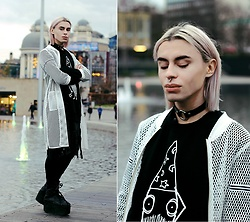 Milex X - Stylewe Jacket, Quipster Sweatshirt, Mysisstersaccessories Choker, Zara Pants, Popsickvintage Shorts, Buffalo Platforms - LITTLE WIZARD