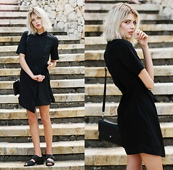 Ebba Zingmark - Monki Bag, Shellys London Sandals, Monki Dress - Collateral