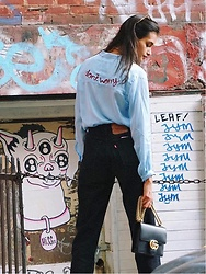 Gizele Oliveira - H&M Top, Levi's® Pants, Gucci Bag - Don't worry