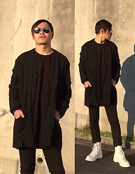 ★masaki★ - Ch. Jacket, H&M Longfit Sweatshirts, The/End Tightpants, Dr. Martens Allwhite 8eyes - Japanese trash style 62