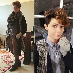 'Olly Rose - Fat Face Waterfall Cardigan, Fat Face Long Cardigan, Abercrombie And Fitch Knitted Waistcoat, Zara Peter Pan Collar Shirt - Casual Mori Boi