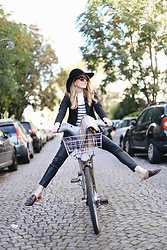 Caroline Louis - Gucci Shoes - Parisian Bike