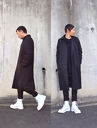 ★masaki★ - Komakino Coat, Ch. No Color Jacket, The/End Black Tihgt Pants, Dr. Martens Allwhite 8eyes - Japanese trash style 63