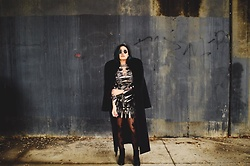 Jessica Humerick - Free People Dress, Katherine Kelly Fur Coat, Kate Spade Tights, Jeffrey Campbell Shoes, Ray Ban Sunnies - Sea and Serpent First Post