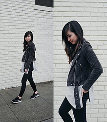 Tania H - Blanknyc Morning Suede Moto, Nike Air Max Thea - On the Regular
