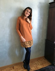 Ivana - Gamiss Sweater Dress/Tunic, Zara Pants, Funky Shoes Ankle Boots - Sweater Dress