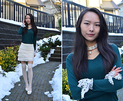 Julie Tao - American Eagle Outfitters Skirt, Ardene Socks - Ice Princess