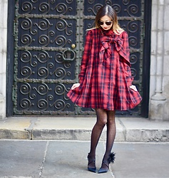 Emily Men -  - Red Tartan Dress with Chicwish