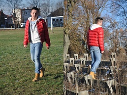 Pawel - Timberland Shoes, Diesel Jeans, Hollister Hoodie, Tommy Hilfiger T Shirt, Mcneal Jacket - End of december