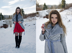 Marcela Wlodarczyk -  - Gray coat Zaful