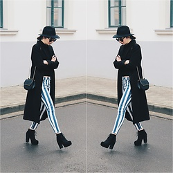Kinga - H&M Coat, C&A Bag, Stradivarius Stripy Pants, H&M Ankle Boots - Oldie but Goodie