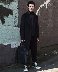 Nigel Lew - Ports 1961 Brushed Wool Coat, Converse 70s, Alexander Mcqueen Leather Tote - The Reinvention