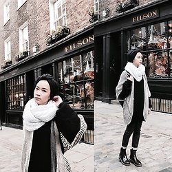 Azra Syakirah -  - Decked in knit.