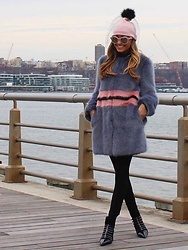 Lauren Recchia - Shrimps Faux Fur, Kate Spade Beanie - Faux Real