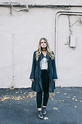 Britnie Harlow - Free People Suede Jacket, Forever 21 Blouse, Target Leather Pants, Free People Ankle Boots - Birthday jacket