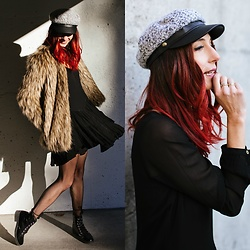 Kiara Schwartz - Lovers + Friends Coat, Guess Dress - Hot like Fire