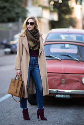 Meagan Brandon -  - Camel Coat & Cropped Denim