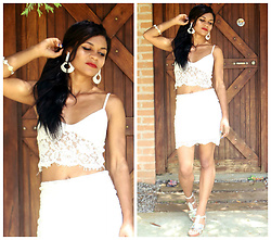 Siça Ramos - Zaful Top, .Cndirect Skirt, Shein Sandal - TOP LOOK OF WHITE INCOME