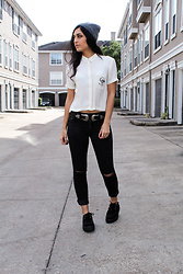 Gina - Kendall And Kylie Shirt, Garage Clothing Jeans, Tuk Creepers - Not Today