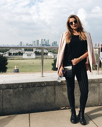 Odette - H&M Boots, New Yorker Pants, New Look Blazer, Primark Bag - Greenwich view