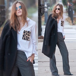Alexandria Deanne - Zara Shirt, Zara Pants, H&M Coat - Pockets