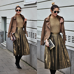Ruxandra Ioana - Zaful Coat, Zaful Skirt - Jungle