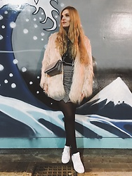 Carla V - Zaful Coat, H&M Bag, Twinkledeals Skirt, Adidas Trainers, Zaful Top - Cold night