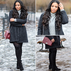 Chiara Culture With Coco - Monki Winter Coat 2017, Ltb Jeans Grey Oversized Sweater Dress, Asos Black Opaque Tights, Amazon Black Chunky Heel Overknee Boots, Luv21 Chanel Boy Bag Inspired Bag Burgundy, Omega Seamaster Planet Ocean Analoguhr, Korite Jewelry, Luxury For Princess Hair Extensions - Monki Winter Coat