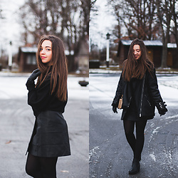 Gabriela Grębska - Zara Sweater, Jollychic Skirt, Jollychic Jacket, Boots - All black