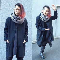 @KiD - Monochrome Black Long Shirts, Ch. Black Coats, Ch. Black Pants, George Cox - Japanese Trash 92