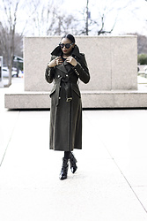 Monica Awe-Etuk - Double Breasted Coat, Boots - 5 COATS YOU NEED FOR WINTER 17