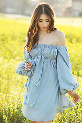 Alyssa Casares - Alyssa Nicole The Dylan Dress - Flower Fields
