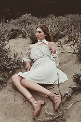 Alyssa Casares - Alyssa Nicole The Hannah Dress, Zara Lace Up Shoes, Urban Outfitters Scarf - Daylight Storms