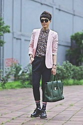 Linus Hung - 3.1 Phillip Lim Bag, Dr. Martens Shoes, Coach Watch - French Gentleman