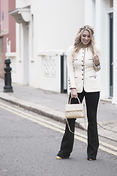 Iam Chouquette - Chanel Jacket, Chanel Bag, J Brand Flares, Chanel Shoes, Rolex Watch - The Night of Coco Cuba