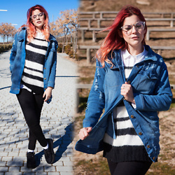 Vita Dinamita - Chicme Denim Jacket, Glasses - Denim January