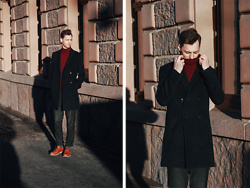 Vladimir Kachesov - Zara Top, Reiss Coat, Zara Pants, Reiss Socks, Ecco Shoes - REISS