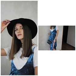 Yulia Sidorenko - Stradivarius Hat, Oasap T Shirt, Zaful Dress - Velvet dress. Part 2