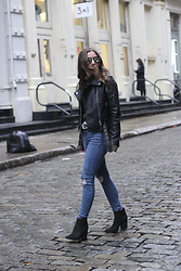 Fashion Sensored - Zaful Moto Leather Jacket, Topshop High Waisted Jeans, Black Ankle Boots - Soho Moto Leather Look