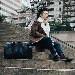 Lucas Hui - Asos Alligator Leather Bag, Topman Faux Shearling Jacket - I Decided.