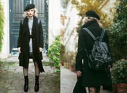 Marta Popescu - H&M Jacket, Public Desire Boots, Calzedonia Tights, Daniel Ray Bag - Paris