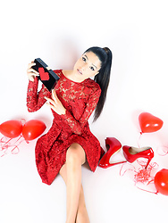 Kristina Zavarski -  - Red Obsession. Valentine's Day Look