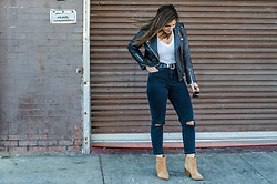 Christina N -  - Leather Moto Jacket