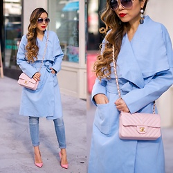 Sasa Zoe - On Sale For Only $30 Trench, Sunglasses, Earrings, Jeans, Heels - PASTEL ME PRETTY