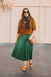 Nydia Enid - Zara Pleated Skirt, Zara Sweater - Pleated Skirt & Sweater