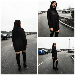 Smriti - Monki Jumper Dress, Whistles Knee High Boot - Winter Skin