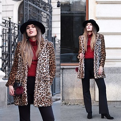 Diana Ior - Zara Fur Coat, H&M Flared Pants, H&M Boots, H&M Hat - Spotless Mind