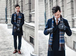 Vladimir Kachesov - Marks & Spencer Scarf, Reiss Coat, Zara Tie, Zara Jeans, Ecco Shoes - FEBRUARY