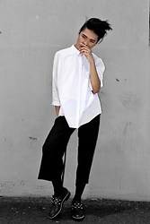 Poch - Cos Shirt, Zara Culottes, Alexander Mcqueen Shoes - Minimal Fringe | More on the blog