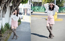 She is Magique Oh my Dior - Romwe Lace Up Skirt, Jeffrey Campbell Shoes Boots, Free People Top - Come back home